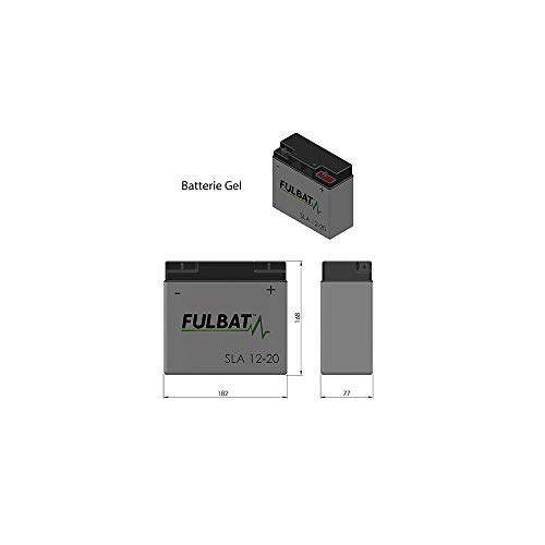 Fulbat - Batterie motoculture/Moto Gel NH1220 / SLA12-20 12V 20Ah