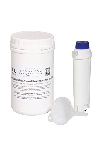 Refill-Set Original DeLonghi Wasserfilter SER3017 als Umbau zur Refill - Nachfüllpatrone mit 1 Liter Filtergranulat