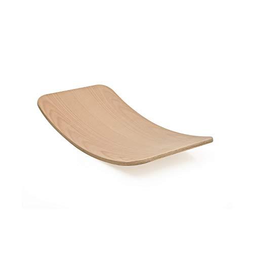 Little ARC Curvy Board Waldorf Board Montessori Board Curved Balance Board Wobble Natural Wood