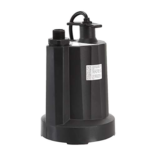 AmazonCommercial 1/4 HP Thermoplastic Submersible Utility Pump, Black