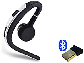 Support Yealink Bluetooth Headset Wireless Bundle USB Dongle and Headset Noise Reduction Desk Phone for SIP-T27G,T29G,T46G,T48G,T46S,T48S,T52S (Silver)
