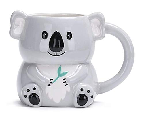 3D Embossed Grey Koala Bear Shaped Drinking Mug