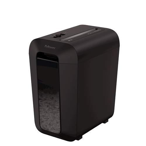 Fellowes Aktenvernichter Powershred LX65, 10 Blatt 4x40mm Cross-Cut P-4, für Kleinbüros und Home Office, mit Safesense Technologie und 22 Liter Papierkorb - schwarz