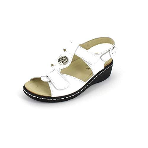 Belvida Sandale Größe 37, Farbe: Weiss