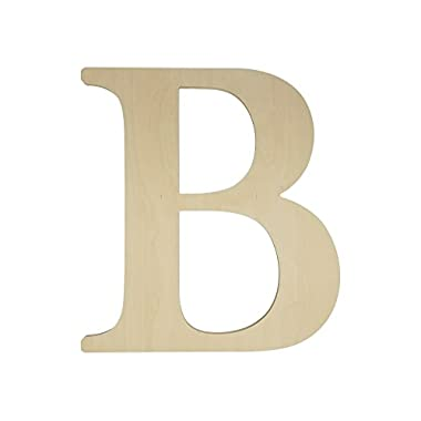 Unfinished Wooden Letter for Wedding Guestbook or Wall Decor (24 ) (Letter B)
