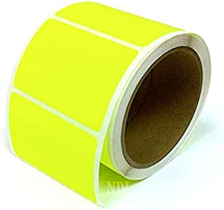 Next Day Labels, 3 X 2 Rectangle Inventory Color Coding Labels, 250 Per Roll (Fluorescent Yellow)