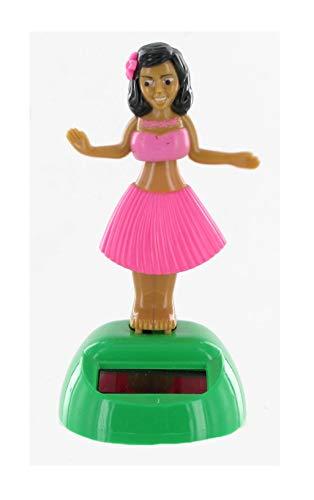 Lutèce Créations - Figura solar animada de resina, juguete bailarina hawaiana de Hula Mobile para la decoración de la casa, la oficina o el coche (Ref: HULA-04)