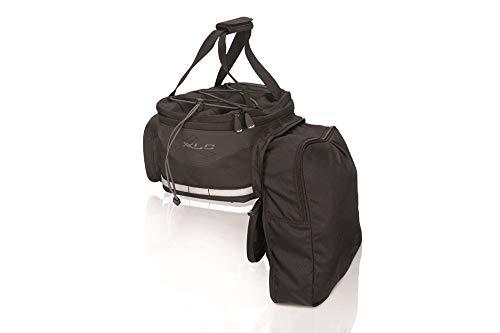 XLC Unisex– Erwachsene Gepäckträgertasche Carry More BA-S64, Schwarz, 130x180x330