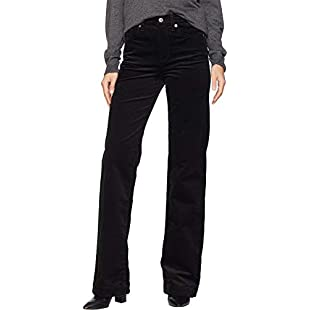7 For All Mankind Women's Alexa in Black Luxe Cord Black Luxe Cord 26 34 34