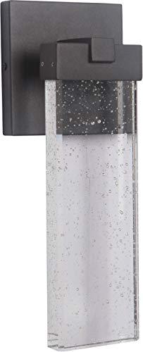 "Craftmade Z1604-TB-LED Aria Crystal Outdoor LED Wall Sconce, 1-Light 12 Watt (6""W x 15""H), Textured Matte Black"