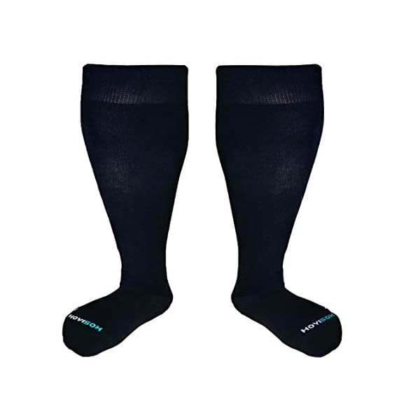 HOYISOX Plus Size Compression Socks 20-30 mmHg for Men and Women, Wide Calf Extra...