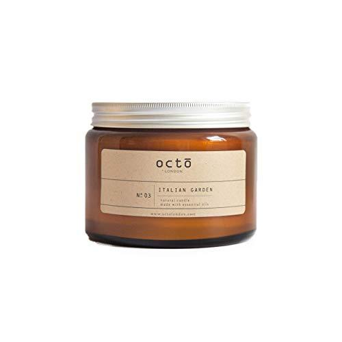 Italian Garden Orange Rosemary Sage essential oil candle amber jar 500ml