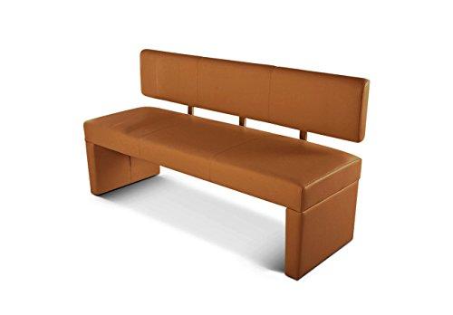 SAM Esszimmer Sitzbank Sander, 164 cm, Cappuccino, Sitzbank mit Rückenlehne aus Samolux®-Bezug, angenehmer Sitzkomfort, frei im Raum aufstellbare Bank