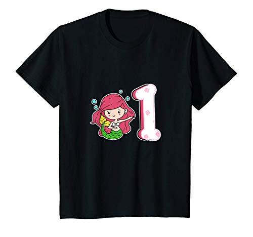 Niños 1er Cumpleaños Sirenas Disfraz 1 Año Princesa Camiseta