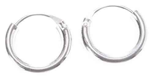 WINDALF Vintage Silbercreolen NIMI Ø 1 cm Schlichte Creolen Ohrringe Damen Ohrschmuck 925 Sterlingsilber