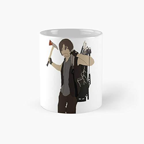 Klassische Tasse mit Daryl Dixon – The Walking Dead, tolles Geschenk, lustige Kaffeetasse, 325 ml