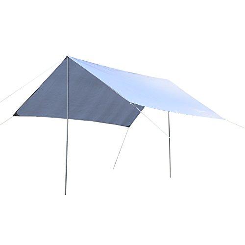 Outsunny Toldo de Refugio Portátil Impermeable Carpa Tienda de Campaña Grande para Camping Playa Picnic Protección Solar