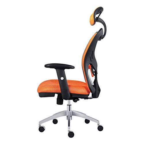 Computer Home Lift Swivel Chair, Ergonomic mesh Chair, seat Office Chair, Fashion Office Chair-Orange