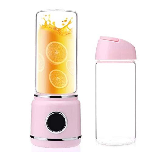 USB portátil voluntario potente motor dual para fruta, hielo, 420 ml de taza de smoothie fabricante de jugo personal mezclador