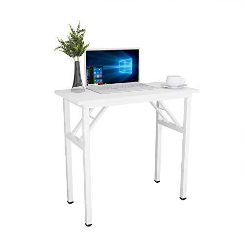 Need Schreibtisch Klapptisch Kleiner Computertisch aus Holzwerkstoffen PC Tisch Bürotisch Arbeitstisch Esstisch für Zuhause, Büro, Picknick, Garten 80 * 40 cm,Weiß