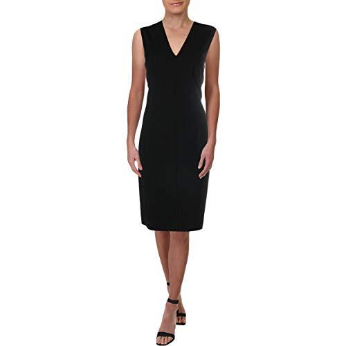 Elie Tahari Womens Roanna Sleeveless Party Sheath Dress Black 8