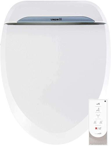 BioBidet USPA 6800U Adjustable Bidet Toilet Seat with Wireless Remote, Dual Nozzle, User Presets and Dryer, White, Round …