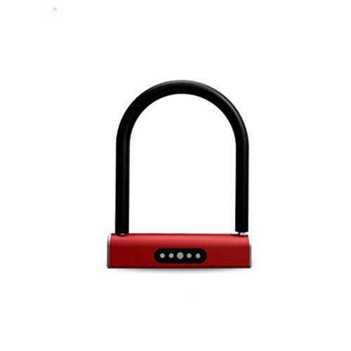 WCY Türschloss Smart-Keyless U-Type-Lock-Keyboard Passwort Fahrräder Motorräder sperren Batteriebetriebene entriegeln Türschloss for Haus, Schlafzimmer (Farbe: Gold, Größe: Eine Größe) yqaae