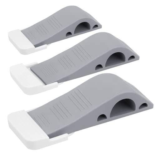 Wundermax Door Stoppers - Rubber Security Wedge for Bottom of Door on Carpet, Concrete, Tile, Linoleum & Wood - Heavy Duty Door Stop - Home...