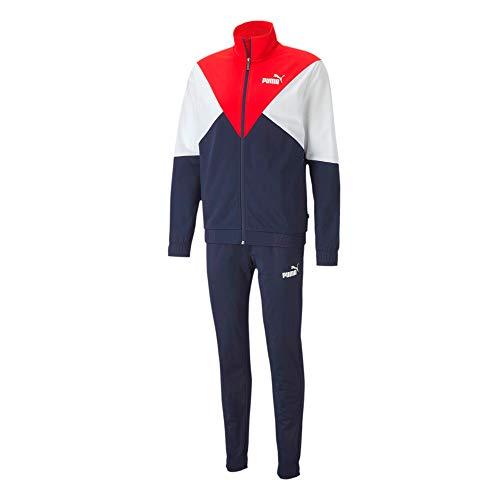 PUMA Herren CB Retro Track Suit CL Trainingsanzug, blau/weiß/rot, XL