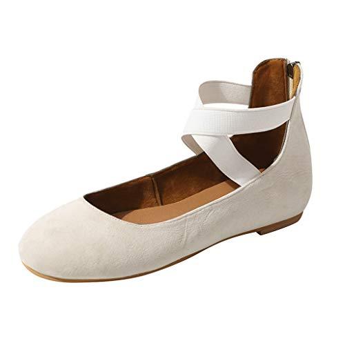 AIni Zapatos De Planos Mujer Verano Sandalias Gran TamañO De Las Mujeres Pisos Comodos Zapatos Casuales Moda De Playa Zapatos De Elegantes Vintage MarróN Negro Gris BeigeDia De Miembro Oferta 35-43