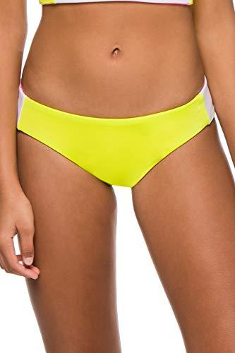 Soluna Women's Moondance Neon Reversible Hipster Bikini Bottom Lime Multi S