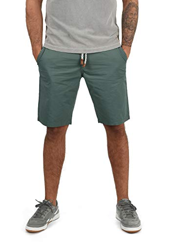 Blend Ragna Herren Chino Shorts Bermuda Kurze Hose Mit Kordel-Gürtel Aus 100{eeb415f631b182f5038f27e9687eb203fc7ae62cb319e1fc9ebebd44418a4d44} Baumwolle Regular Fit, Größe:S, Farbe:Balsam Green (77189)
