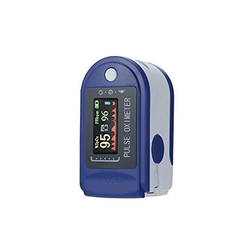 Joyfitness Pulsioxímetro De Dedo con Pantalla LED Que Mide La Frecuencia del Pulso Y El Nivel De SpO2 En Sangre, Pulsioxímetro Portátil para Monitorizar Adultos Y Niños