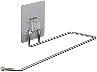 Kitchen Paper Holder Hanger Tissue Roll Towel Rack Bathroom Toilet Sink Door Hanging Organizer Storage Hook Holder (Color ...