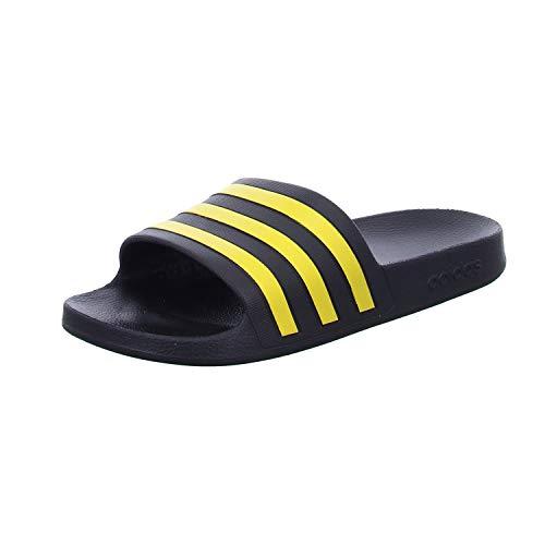 adidas Adilette Aqua, Scarpe da Ginnastica Unisex-Adulto, Core Black/Gold Met./Core Black, 40.5 EU