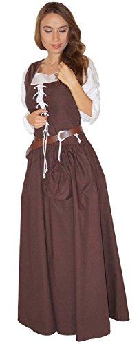 MAYLYNN 14261-XL - Mittelalter Kostüm Magd Bäuerin Celia Kleid, Größe XL