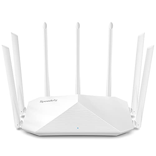 Gigabit WiFi Router, Dual Band Smart Wireless Router, Speedefy AC2100 4x4 MU-MIMO & 7 External Antennas for Strong Signal and High Speed, Parental Control, Guest Network, Easy Setup (Model K7W)