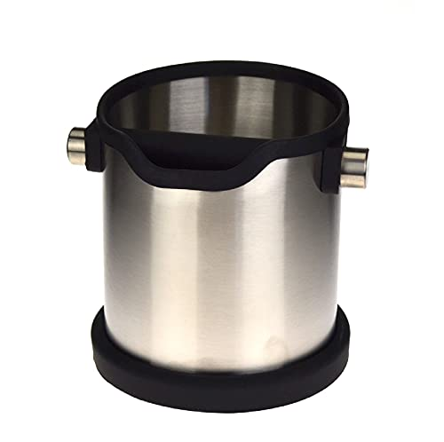 Rhino Coffee Gear RWKNOCKSS Rhino Stainless Steel Knock Box Stainless Steel Knock Tube, Silver
