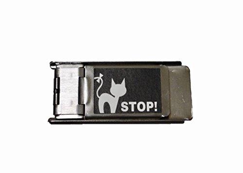 右側専用 網戸ロック にゃんにゃんストッパー 1個入り 猫 脱走 防止 補助錠 ブラックR