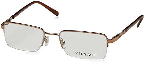 Versace Herren 0Ve1066 Brillengestell, Hellbraun, 50 EU