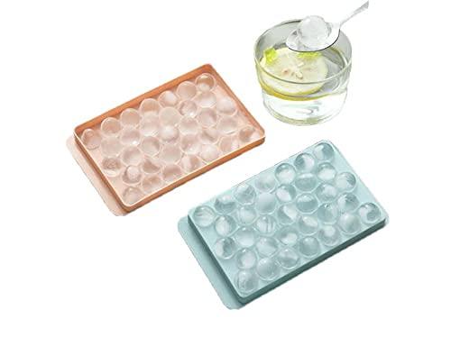Stampo ghiaccio,kim vaschetta stampo ghiaccio a cubetti per congelatore con coperchio,2 pezzi ,stampo per alimenti per bambini,casa,whisky,cocktail,per alcolici. (Ghiaccio a sfera)