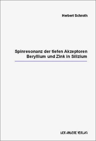 Spinresonanz der tiefen Akzeptoren Beryllium und Zink in Silizium