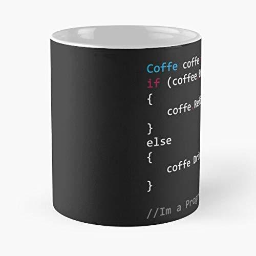Java Programación Codificación Cofe Café Café Programación Mejor 11oz Cerámica Taza Personalizar