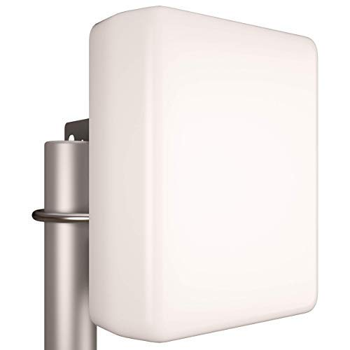 Tupavco TP542 Dual-Band (13dBi) Outdoor Directional Panel Antenna (2.4GHz & 5GHz WiFi) Wireless Network Signal (Pole Mast Mount) Weatherproof High-Gain Long-Range (w/N-Female Connector)