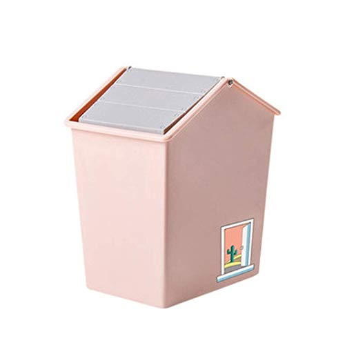 1yess Mülleimer Modern Mülleimer, Mini Kunststoff Abfall für Badezimmer Eitelkeit Arbeitsplatte oder Tischabfall Abfallbehälter Abfallbehälter (Farbe: 2 Pack B) (Color : Pink)