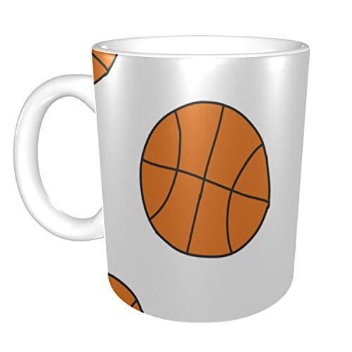 Große Neuheit Kaffeetasse Basketball Cartoon Sportspielzeug Kunst Keramikbecher Keramikbecher Lustig 11 Unzen Für Männer Frauen Ideale Geschenke Für Frühstücksmilch