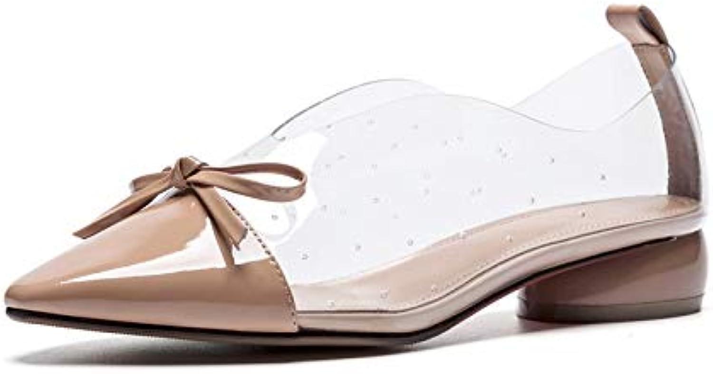 MENGLTX High Heels Sandalen 2019 Heiße Verkaufsfrauen Pumpt Bowknot PVC  Lackleder Schuhe Damen Frühling Sommer Quadratische Fersen Büro Schuhe Damen B07QLWBXK8  Empfohlen heute