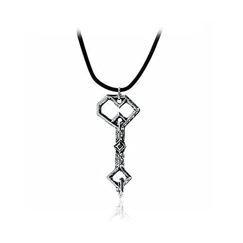 Joyería europea y americana El Señor de los Anillos El Hobbit Oak Shield Treasure Key Retro Colgante Collar Joyería de los Hombres
