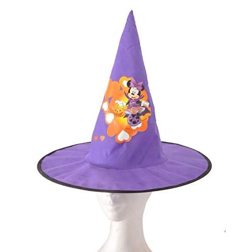 Ciao- Cappello Cono da Strega in Tessuto Basic Disney Halloween Minnie Accessori per Bambini, Viola, Taglia unica, 31354