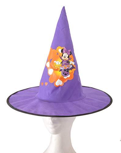 Ciao 31354 - Sombrero Cono de bruja de tela Basic Disney Halloween Minnie accesorios para niños, color morado, talla única